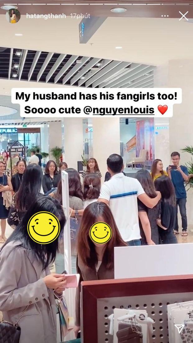 Phản ứng bất ngờ của Hà Tăng khi Louis Nguyễn bị fan nữ vây kín