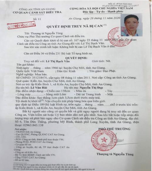 Truy nã đặc biệt Mười Tường vụ vận chuyển 51kg vàng, khám xét đồng loạt nhiều nơi
