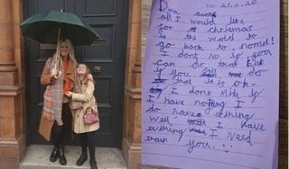 Bức thư gửi ông già Noel, không cần quà chỉ xin 1 điều đặc biệt