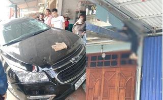 Tài xế mượn ô tô đi ăn tiệc tông chết 2 cha con đã ra trình diện
