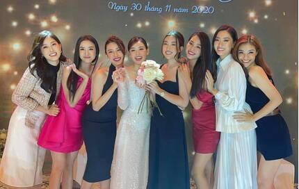 Chiêm ngưỡng nhan sắc dàn mỹ nhân tham dự đám cưới Á hậu Tường San