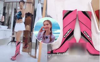 Ngọc Trinh bị chỉ trích khi khoe giày cao gót có hình nhạy cảm