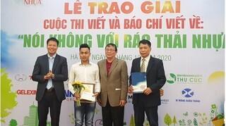 Lễ trao giải cuộc thi viết và báo chí viết về 'Nói không với rác thải nhựa'