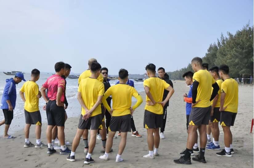 Chùm ảnh về CLB Nam Định tại chuyến tập huấn