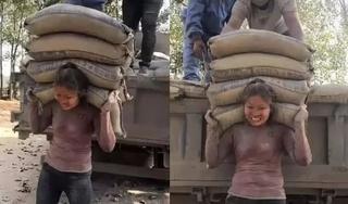 Sự thật về cô gái vác 20 tấn xi măng mỗi ngày để kiếm tiền chữa bệnh cho chồng
