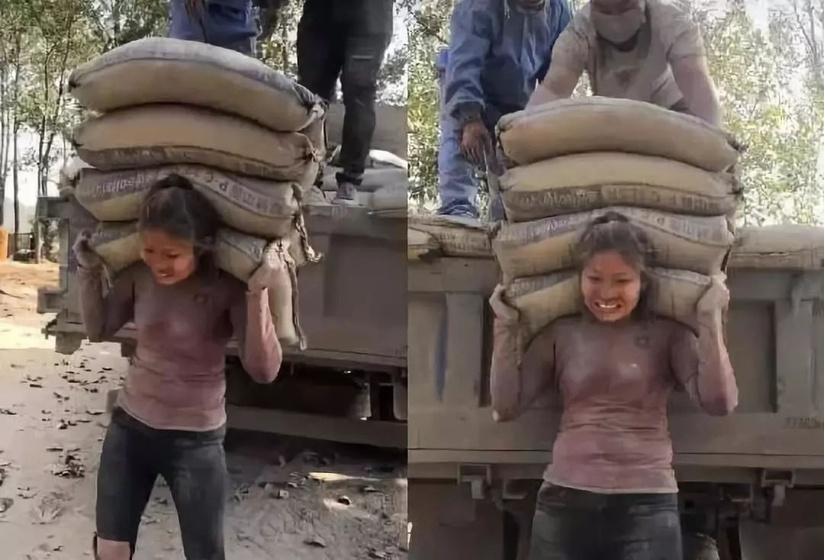 Sự thật về cô gái vác 20 tấn xi măng mỗi ngày để kiếm tiền chữa bệnh cho chồng.1