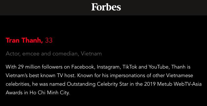 Trấn Thành, Đông Nhi, Chi Pu bất ngờ lọt Top100 người có sức ảnh hưởng nhất Châu Á