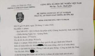 Sự thật ô tô bị bắn tốc độ tại Hà Tĩnh vì chạy 277km/h