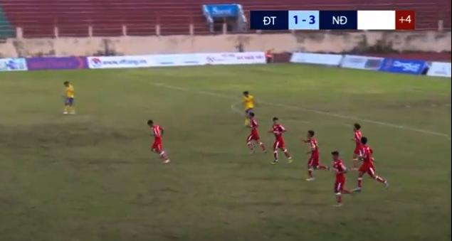 U21 Nam Định thắng đậm Đồng Tháp ở giải U21 quốc gia