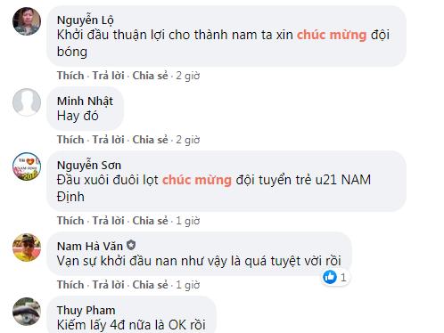 U21 Nam Định nhận 'mưa' lời khen