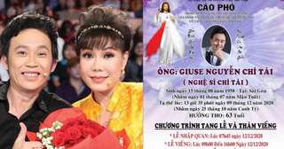Nghệ sĩ Hoài Linh công bố cáo phó và lễ viếng danh hài Chí Tài tại Việt Nam
