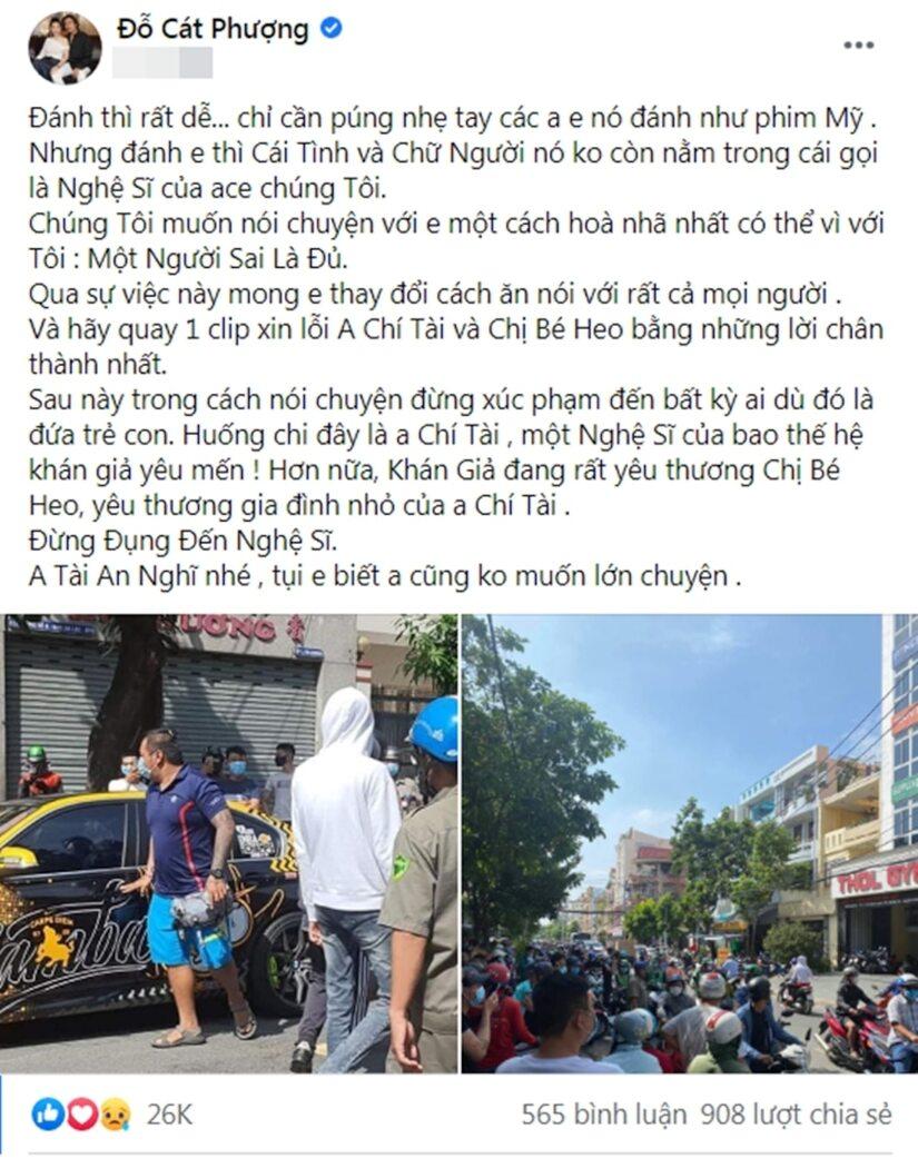 Cát Phượng, Huỳnh Phương tiết lộ cách 'xử lý' vụ nam gymer xúc phạm vợ chồng NS Chí Tài