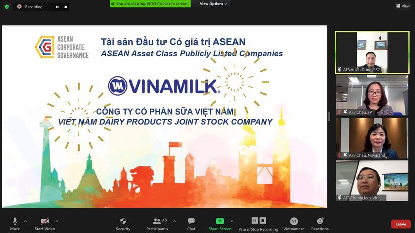 Vinamilk là doanh nghiệp đầu tiên và duy nhất của Việt Nam thuộc top tài sản đầu tư có giá trị của ASEAN