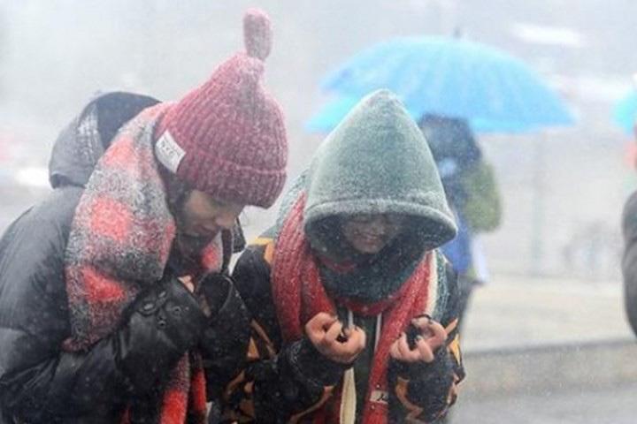 Hàng chục trường ở Lạng Sơn cho học sinh nghỉ học tránh rét