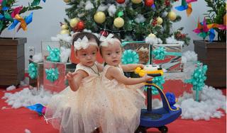 Trúc Nhi - Diệu Nhi xinh xắn đón Giáng sinh tại Bệnh viện Nhi đồng Thành phố