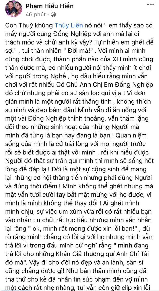 Vợ Hiếu Hiền gọi Hari Won là 'con', cùng chồng đáp trả khi bị chỉ trích vì livestream NS Chí Tài