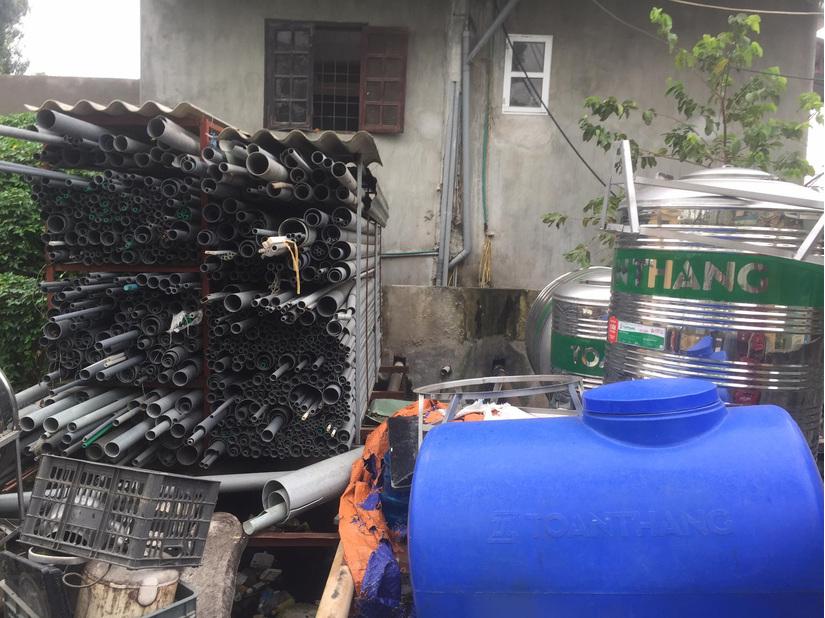 Đất công khu vực trạm bơm Kênh Thủy, huyện Ý Yên bị lấn chiếm