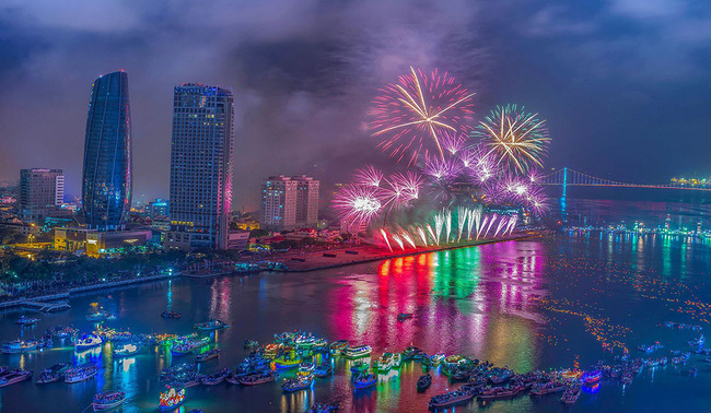 Đà Nẵng bắn pháo hoa đêm Giao thừa Tết Nguyên đán Tân Sửu ở 3 địa điểm