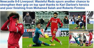 Liverpool lại hòa thất vọng: Báo chí điểm danh tội đồ, ca ngợi