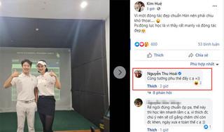 Phạm Kim Huệ thân thiết bên trai đẹp, hot girl Thu Hoài khen