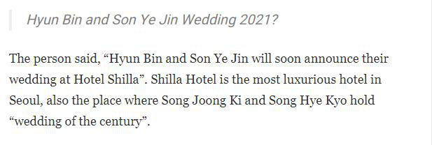 Xôn xao tin đồn Hyun Bin - Son Ye Jin sắp kết hôn