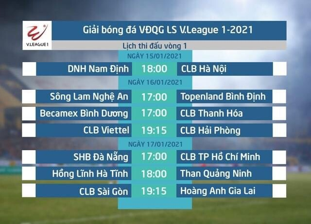 Vòng 1 V.League 2021