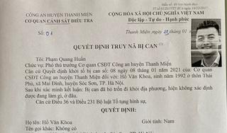 Truy nã Hồ Văn Khoa, kẻ nổ súng vào xe 'thánh chửi' Dương Minh Tuyền