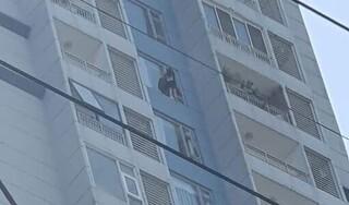 Giải cứu cô gái đứng vắt vẻo ở lan can tầng 15 chung cư định tự tử