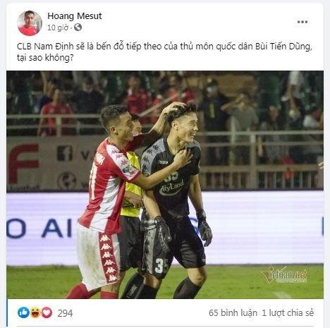 CĐV Nam Định gợi ý đội nhà chiêu mộ Bùi Tiến Dũng