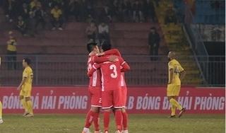 Hải Phòng vượt qua Nam Định trong trận cầu có tới 5 bàn thắng