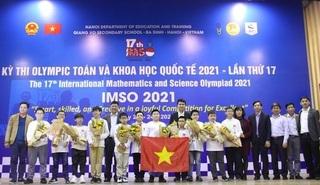 Việt Nam giành 2 Huy chương Vàng Olympic Toán học và Khoa học quốc tế năm 2021