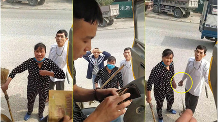 Cặp vợ chồng ở Hà Nam dọa 'cởi đồ', cầm đá và cán chổi bắt tài xế trả 100 nghìn tiền đỗ xe
