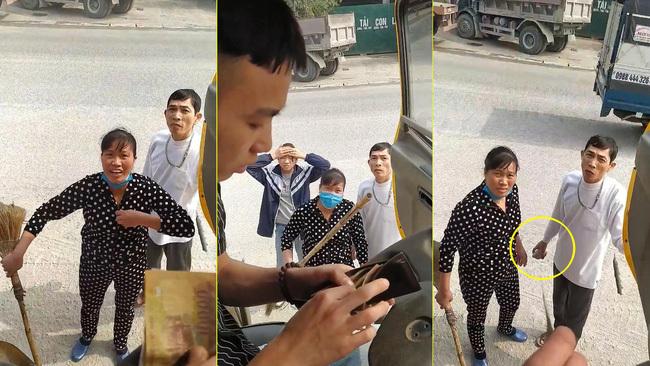 Cặp vợ chồng ở Hà Nam dọa cởi đồ, cầm đá và cán chổi bắt tài xế trả 100 nghìn tiền đỗ xe