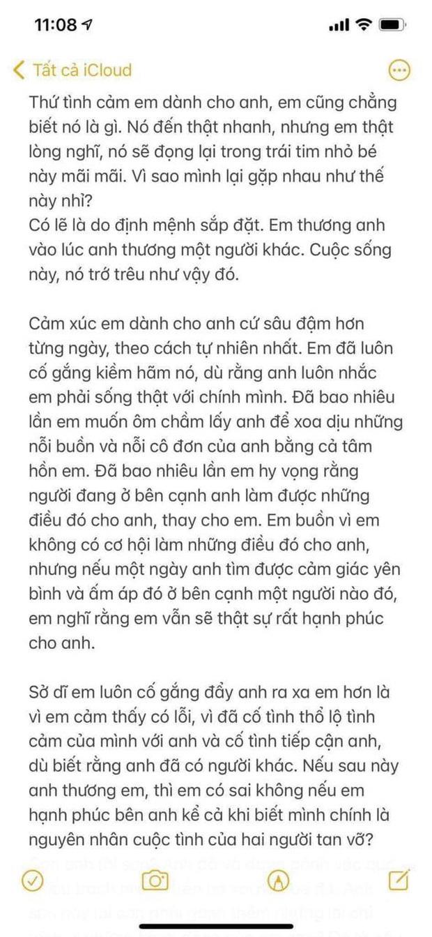 Full bức thư tình 5 trang của Hải Tú gửi Sơn Tùng