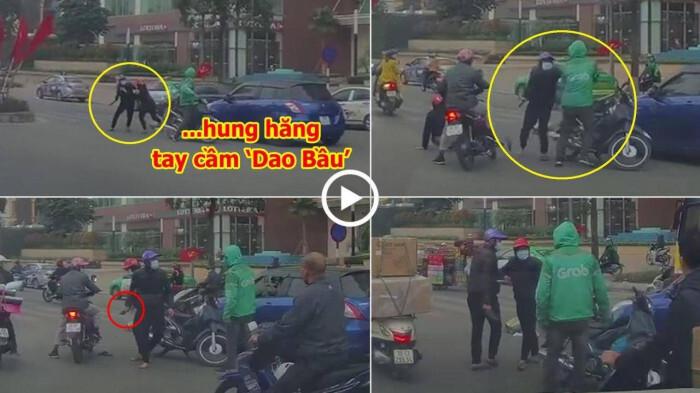 Va chạm giao thông, tài xế Grabbike bị nam thanh niên đuổi đánh
