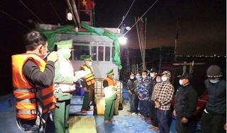 Cách ly 11 ngư dân Thanh Hóa trở về từ vùng biển Vân Đồn