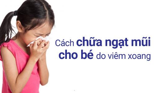 chữa ngạt mũi cho bé
