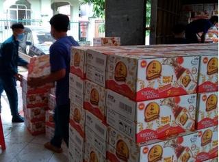 36.000 sản phẩm Tân Hiệp Phát được trao tặng đến các khu vực cách ly tỉnh Bình Dương