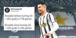 """Ronaldo đỉnh cao chói lọi: Sau 30 tuổi vẫn nã 300 bàn, Messi """"khóc thét"""""""