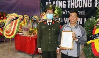 Thăng quân hàm cho Thiếu tá Vi Văn Luân hy sinh khi truy bắt tội phạm ma túy