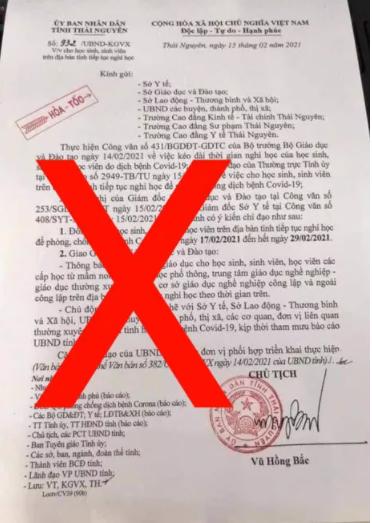 Thái Nguyên: Nam sinh lớp 10 chỉnh sửa văn bản cho học sinh nghỉ học phòng dịch Covid-19