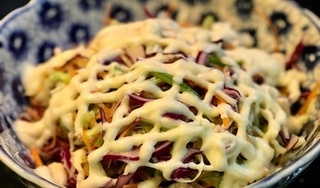 Cách làm salad bắp cải trộn sốt mayonnaise thanh đạm, dễ làm