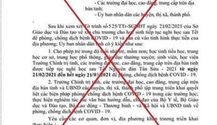 Làm giả văn bản cho nghỉ học 1 tháng tại Quảng Nam là 1 học sinh cấp 2