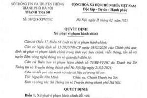 Xử phạt 2 cá nhân đăng tin sai sự thật về Covid-19 lên mạng xã hội