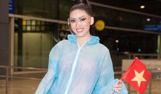 Ngọc Thảo mặc đồ bảo hộ, đeo sash Việt Nam lên đường chinh phục Miss Grand International 2020