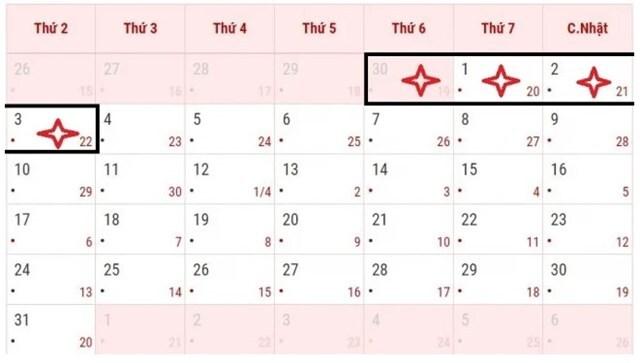 Lịch nghỉ ngày Giỗ Tổ Hùng Vương, 30/4 và 1/5 năm 2021 với cán bộ, công chức, người lao động