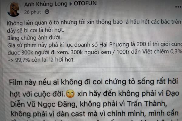 Hồ Ngọc Hà nhận gạch đá vì nói ai không xem phim mới của Vũ Ngọc Đãng là sống rất hời hợt với cuộc đời