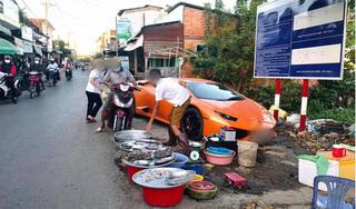 Xôn xao hình ảnh người đàn ông mang siêu xe Lamborghini đắt giá đi bán cá lề đường