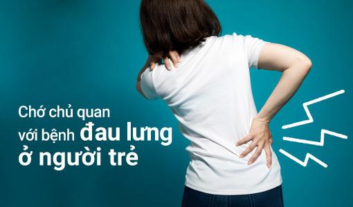 bệnh đau lưng ở người trẻ