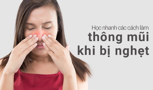 thông mũi khi bị nghẹt